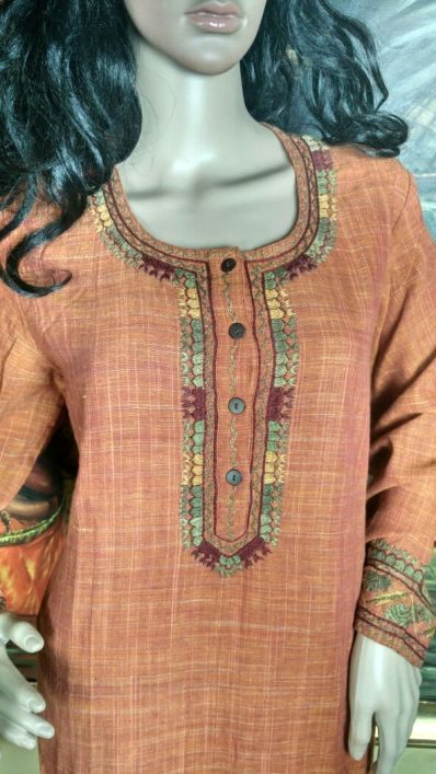 Tribal Embroidery Khadi Kurti