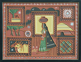 Gujarati Mud Painting