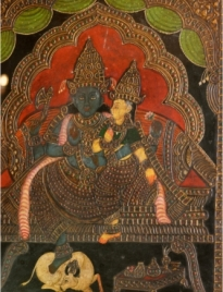 Shiva-Shakti: Tanjore Antique