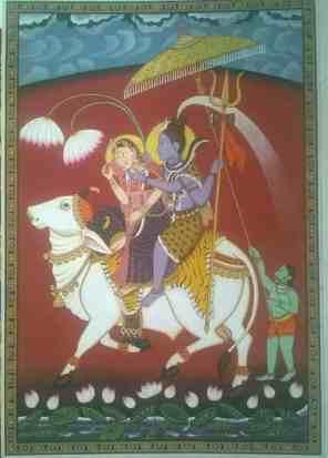 Shiv Parvati Shiv Parvati;Pichwai Painitng