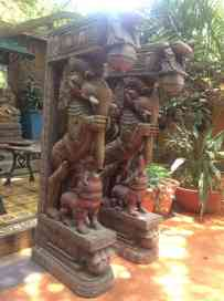 Yalis - Wood Work Tamil Nadu