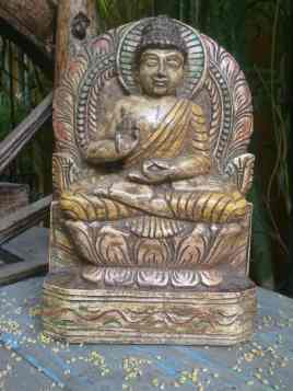 Buddha - Wood Work Tamil Nadu
