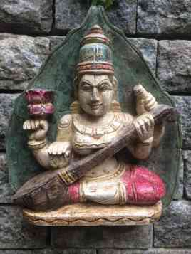 Saraswati - Wood Work Tamil Nadu
