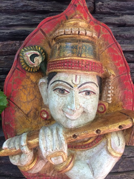 Krishna - Wood Work Tamil Nadu