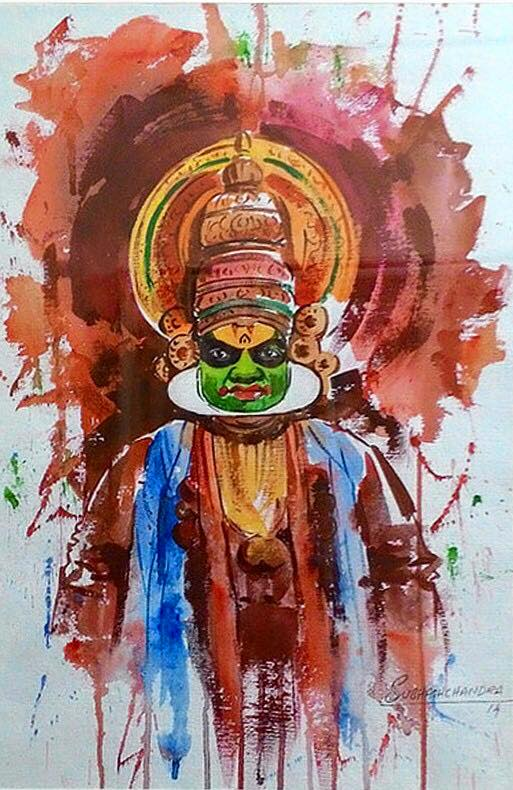 Meet-the-Master-Series-Shree-Subhash-Chandra-Gowda-Master-painter-in-Water-Colours-Karnataka-India-Aparna-Challu-jpg (12)