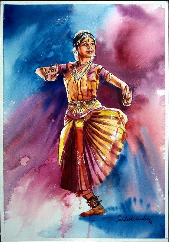 Meet-the-Master-Series-Shree-Subhash-Chandra-Gowda-Master-painter-in-Water-Colours-Karnataka-India-Aparna-Challu-jpg (13)