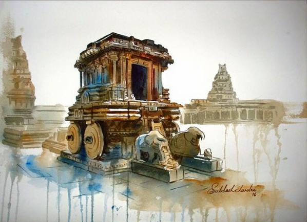 Meet-the-Master-Series-Shree-Subhash-Chandra-Gowda-Master-painter-in-Water-Colours-Karnataka-India-Aparna-Challu-jpg (9)