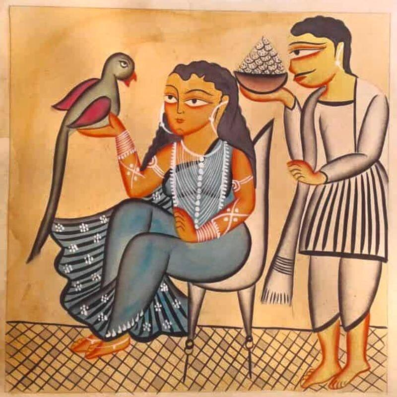 Meet-the-Master Series-Shreemati-Mamani-Chitrakar-Kalighat-Painting-West Bengal-Aparna-Challu-jpg (1)