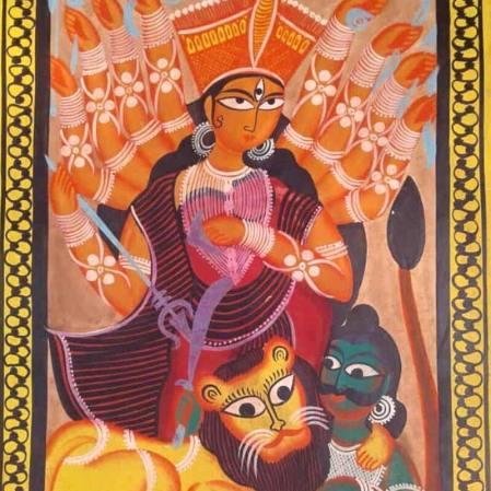 Meet-the-Master Series-Shreemati-Mamani-Chitrakar-Kalighat-Painting-West Bengal-Aparna-Challu-jpg (5)