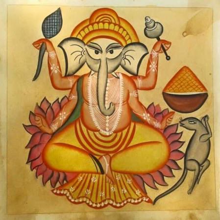 Meet-the-Master Series-Shreemati-Mamani-Chitrakar-Kalighat-Painting-West Bengal-Aparna-Challu-jpg (8)