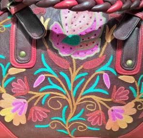 DesignerKashmiri Ariwork Leather Handbag
