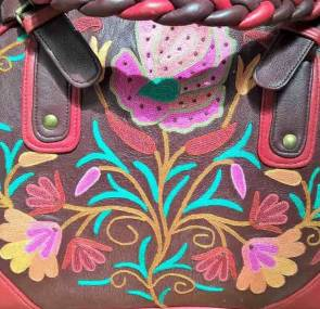 DesignerKashmiri Ariwork Leather Handbag